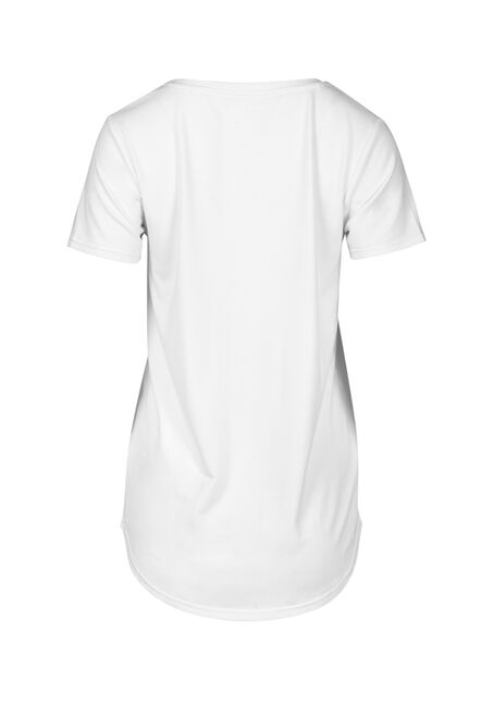 Women's Drapey V-Neck Tee, WHITE, hi-res