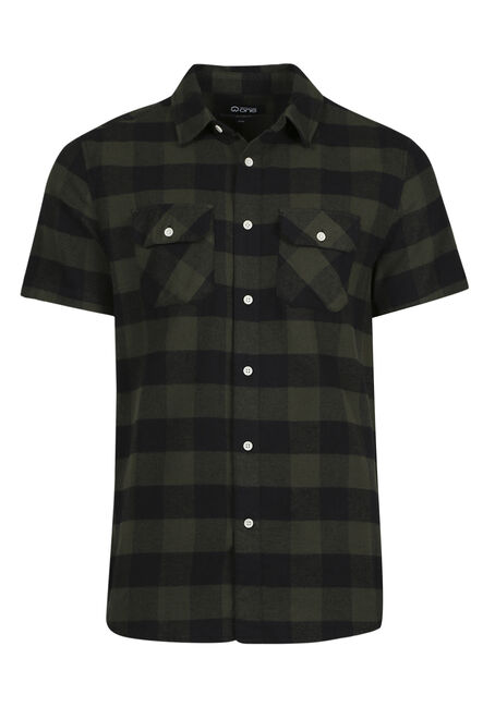 Men's Relaxed Plaid Flannel Shirt