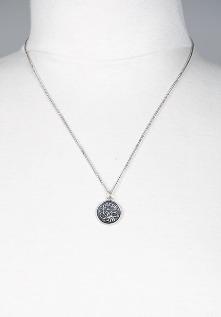 Scorpio Pendant Necklace, SILVER, hi-res