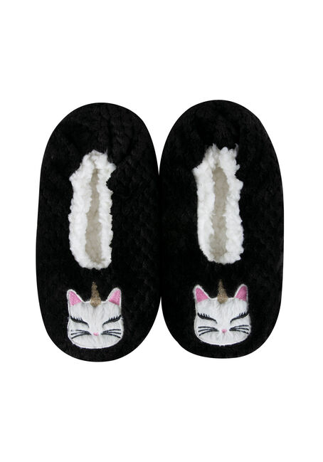 Ladies' Quilted Unicorn Cat Slippers
