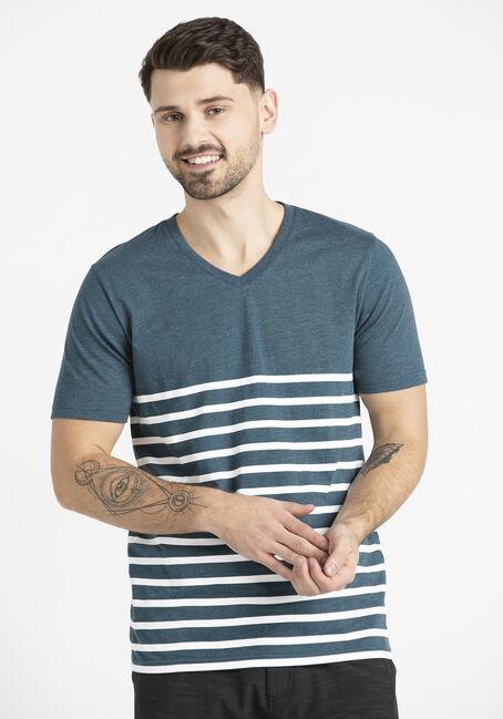 Men's Stripe V-Neck Tee