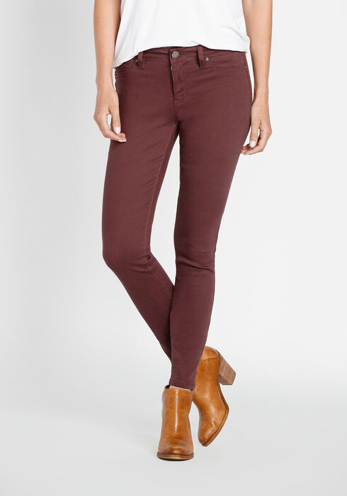Ladies' Skinny Jeans, PRUNE, hi-res