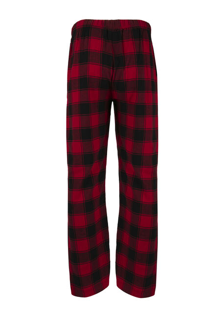 Men's Buffalo Plaid Flannel Lounge Pant, RED, hi-res