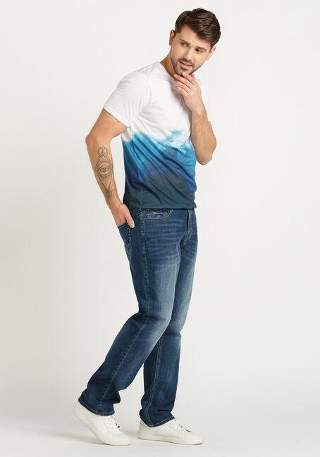 Men's Wave Graphic Tee, BLUE, hi-res