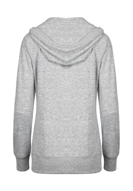 Women's Super Soft Zip Front Hoodie, GREY MIX, hi-res