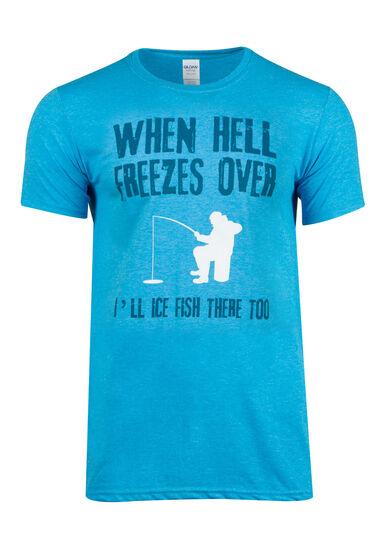 Men's Ice Fishing Tee, HEATHER SAPPHIRE, hi-res