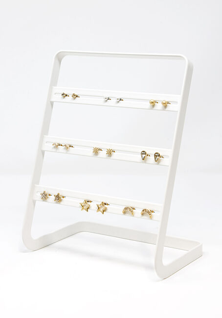 Women's Stars & Moons 9 Pair Earring Set
