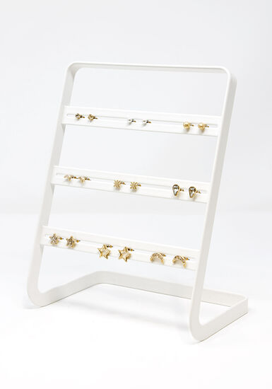 Women's Stars & Moons 9 Pair Earring Set, GOLD, hi-res