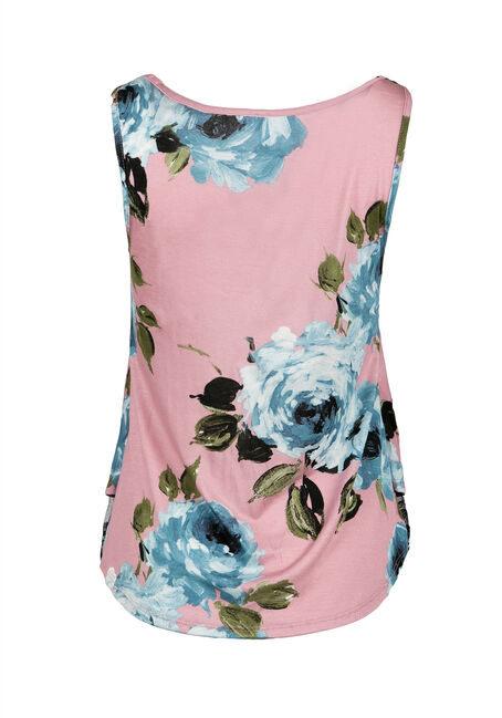Ladies' Floral Tank, MAUVE, hi-res