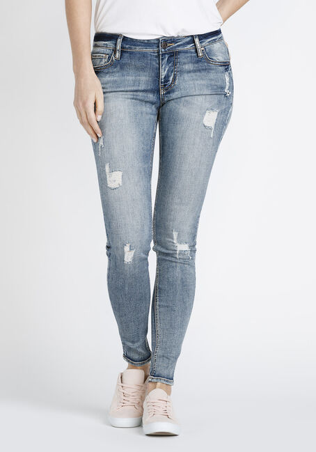 Women's Vintage Distressed Skinny Jeans