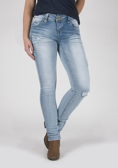 Ladies' Skinny Jeans, DENIM, hi-res