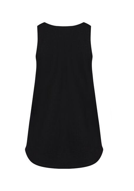 Women's Scoop Neck Tank, BLACK, hi-res