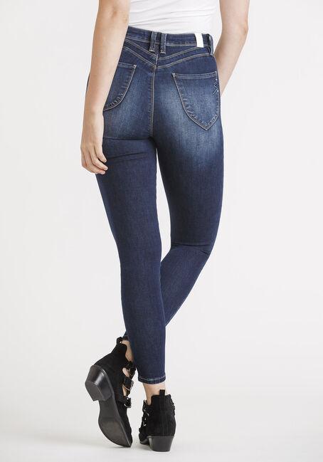 Women's High Rise Skinny Jeans, DARK WASH, hi-res