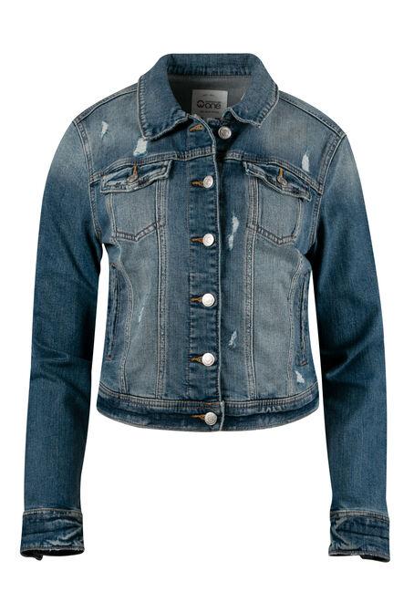 Women's Vintage Distressed Jean Jacket
