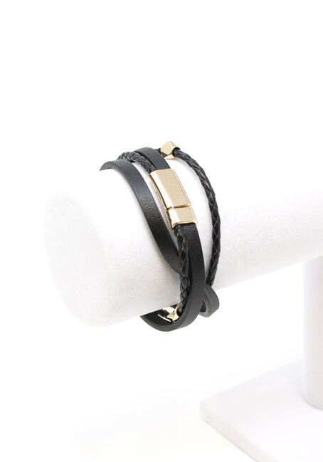 Women's Magnetic Wrap Bracelet, BLACK, hi-res