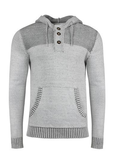 Men's Henley Sweater, WHITE, hi-res