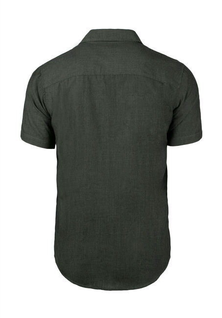 Men's Textured Shirt, DARK OLIVE, hi-res