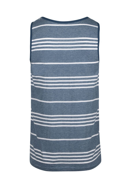 Men's Everyday Stripe Tank, TWILIGHT, hi-res