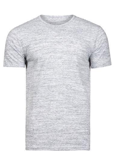 Men's Everyday Mini Stripe Tee, WHITE, hi-res