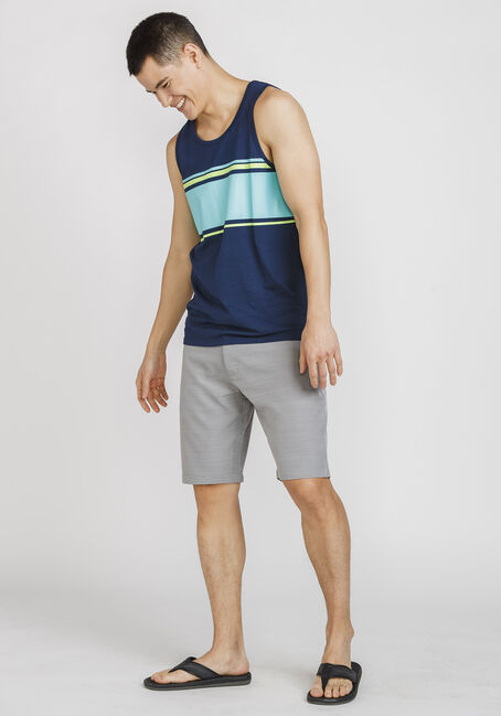 Men's Everyday Striped Tank, NAVY, hi-res