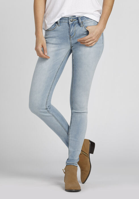 Ladies' Skinny Jeans, BLEACH WASH, hi-res