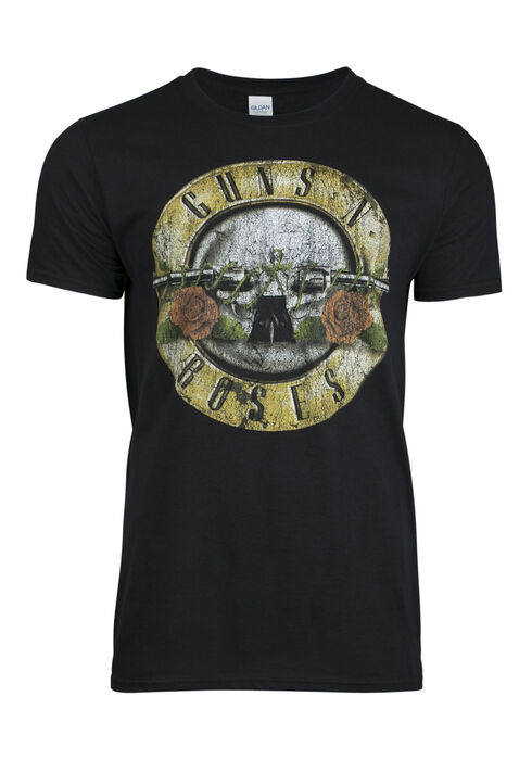 Men's Guns N Roses Tee, BLACK, hi-res