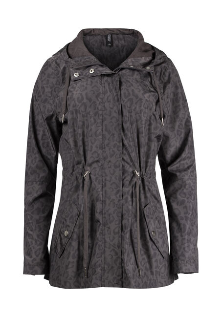 Ladies' Hooded Leopard Anorak Jacket