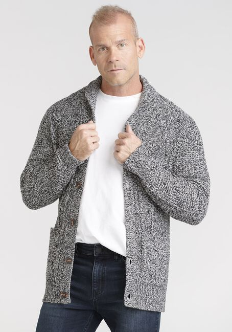 Men's Marled Cardigan Sweater