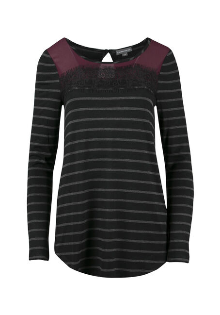 Ladies' Colour Block Stripe Top