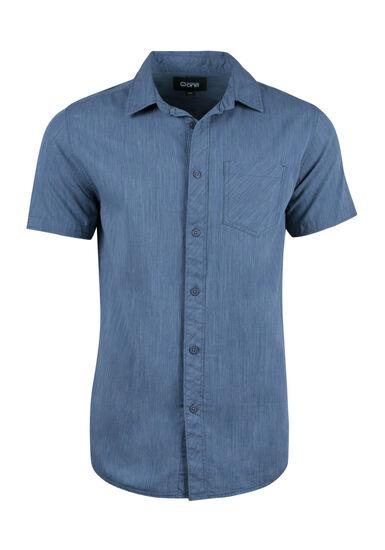 Men's Space Dye Shirt, BLUE, hi-res