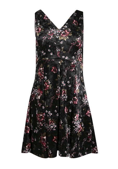 Ladies' Floral Fit and Flare Dress