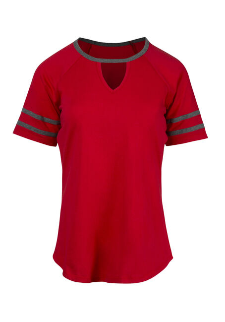 Women's Keyhole Football Tee