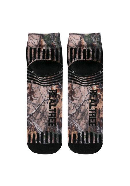 Men's 2 Pack Real Tree Ankle Socks, BLACK, hi-res