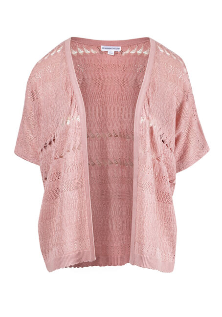Women's Dolman Pointelle Cardigan