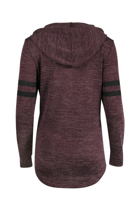 Ladies' Football Tunic Hoodie, WINE, hi-res