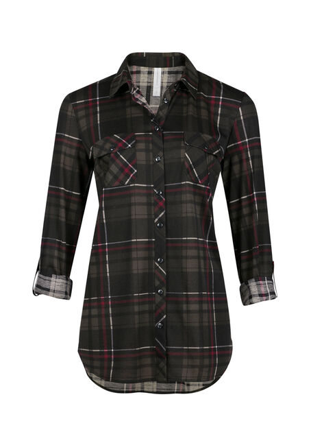 Ladies' Knit Plaid Shirt