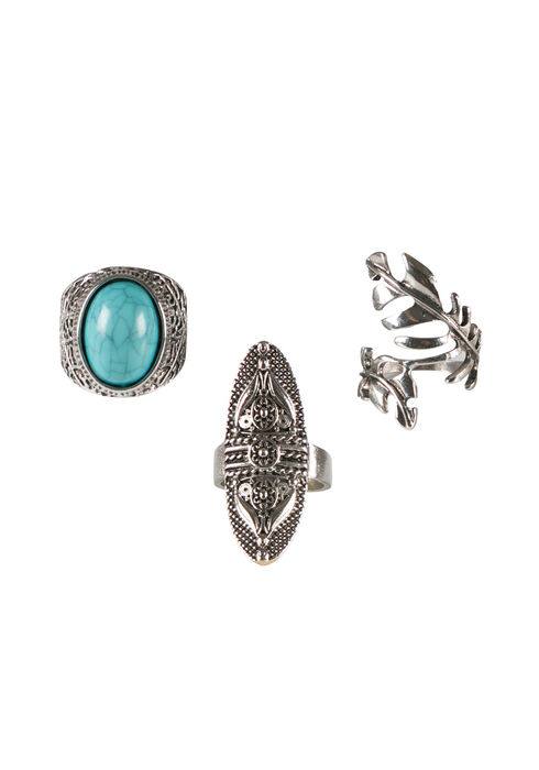 Ladies' Trio Ring Set, SILVER, hi-res