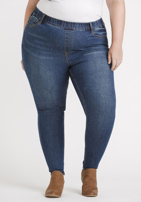 Women's Plus Size Pull-on Skinny Jeans 29""