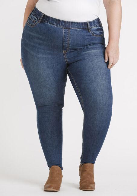 "Women's Plus Size Pull-on Skinny Jeans 29"""