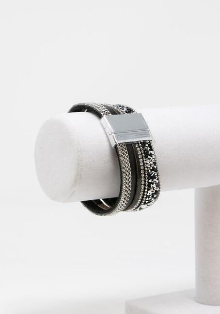 Women's Magnetic Wrap Bracelet, GREY, hi-res