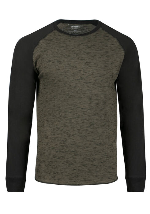 Men's Everyday Baseball Tee, Olive, hi-res