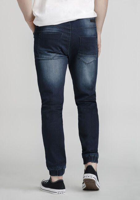 Men's Stretch Denim Jogger, MEDIUM WASH, hi-res