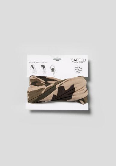 Women's Camo Multiwear Headwrap, OLIVE, hi-res