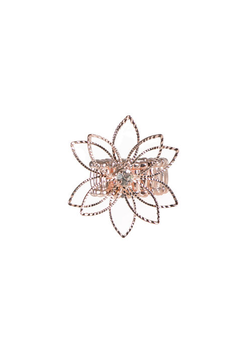 Ladies' Stretch Daisy Ring, ROSE GOLD, hi-res