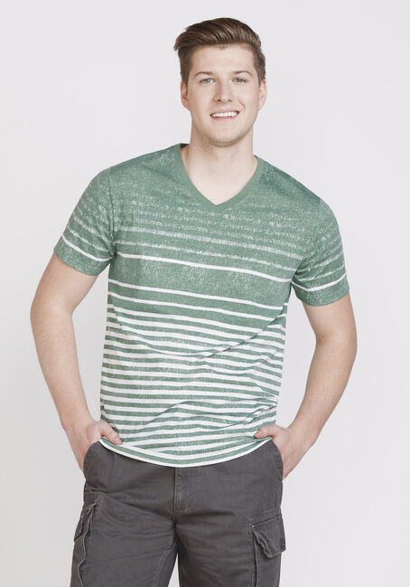 Men's Everyday Striped Crew Neck Tee, SHALE, hi-res