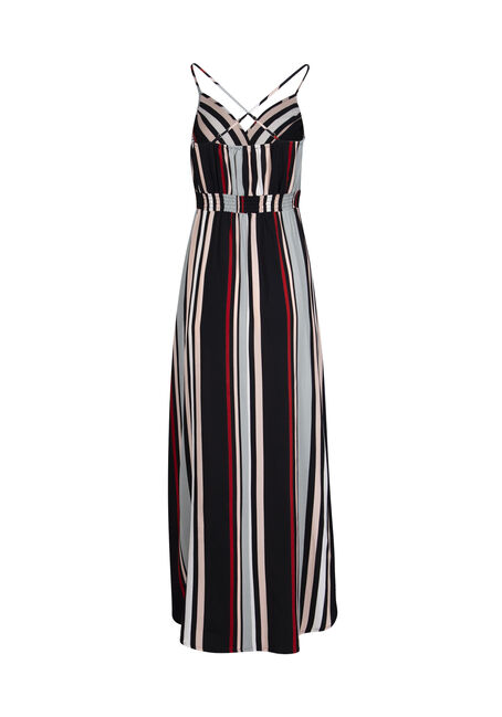 Women's Stripe Maxi Dress, MULTI, hi-res