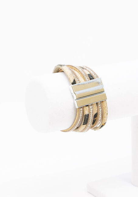 Women's Magnetic Bracelet, BROWN, hi-res