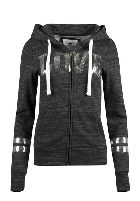 Ladies' Sequin Love Hoodie