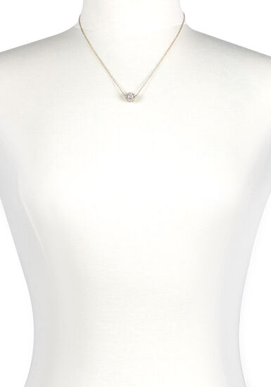 Women's Fireball Necklace, GOLD, hi-res