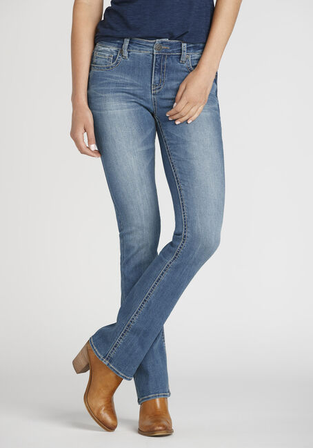 Women's Light Wash Baby Boot Jeans